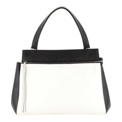 Celine Edge Bag Leather Large, crafted from white leather