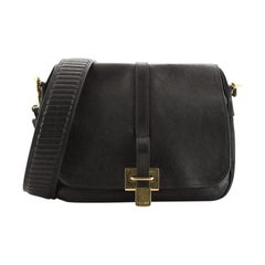 Celine Flap Messenger Bag Leather and Suede
