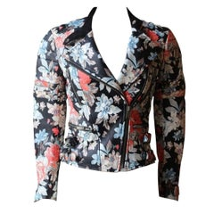 Celine Floral Leather Biker Jacket