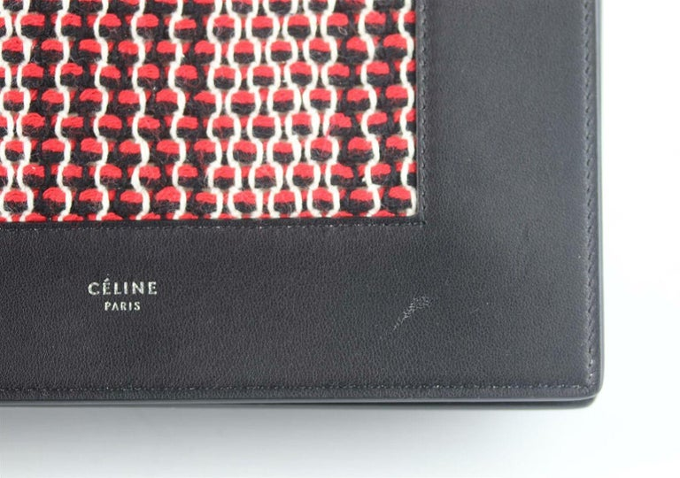 Celine Frame Evening Leather Trimmed Clutch On Chain Bag For Sale 3