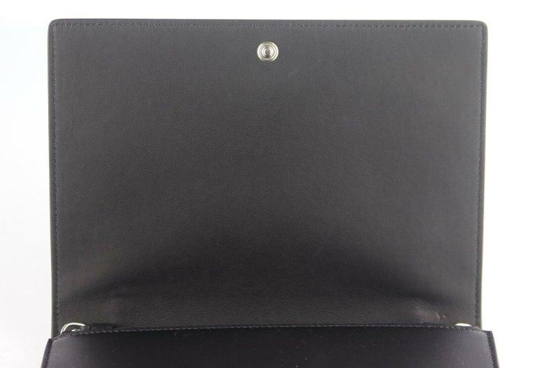 Celine Frame Evening Leather Trimmed Clutch On Chain Bag For Sale 4