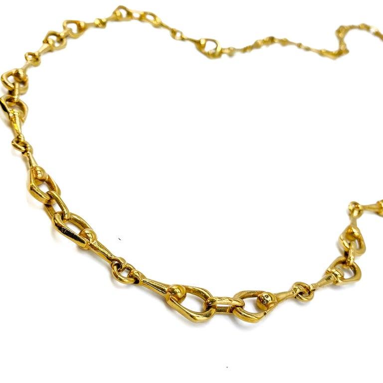 Women's Celine Gold Plated Necklace Vintage, 1980s For Sale