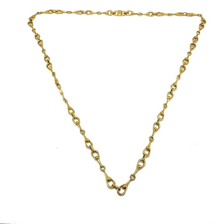 Celine Gold Plated Necklace Vintage, 1980s For Sale 1
