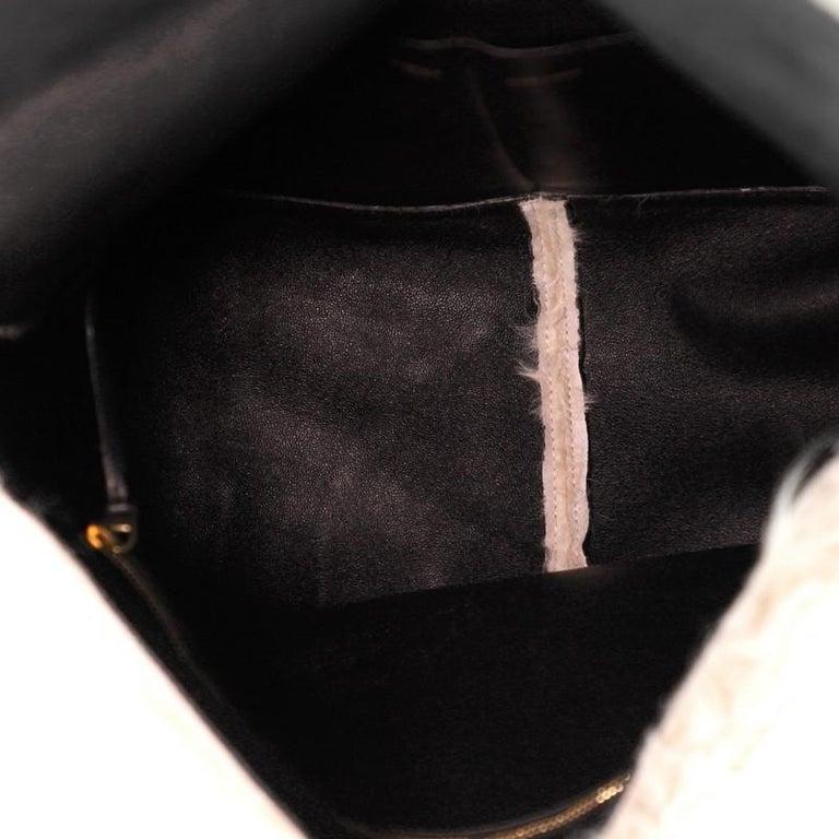 Celine Gourmette Shoulder Bag Fur Medium For Sale 1