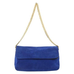 Celine Gourmette Shoulder Bag Suede Small