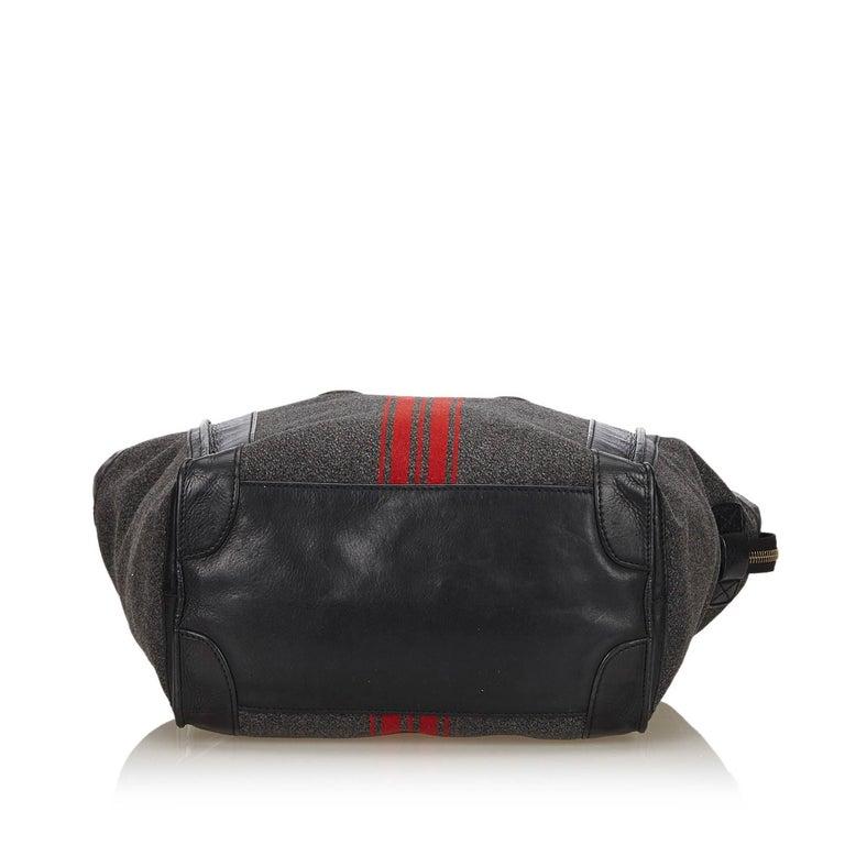Women's or Men's Celine Gray x MultiWool Racer Stripe Medium Luggage For Sale