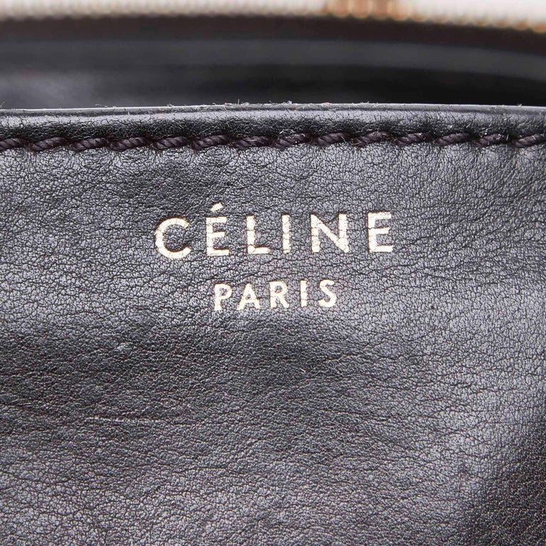 Celine Gray x MultiWool Racer Stripe Medium Luggage For Sale 2