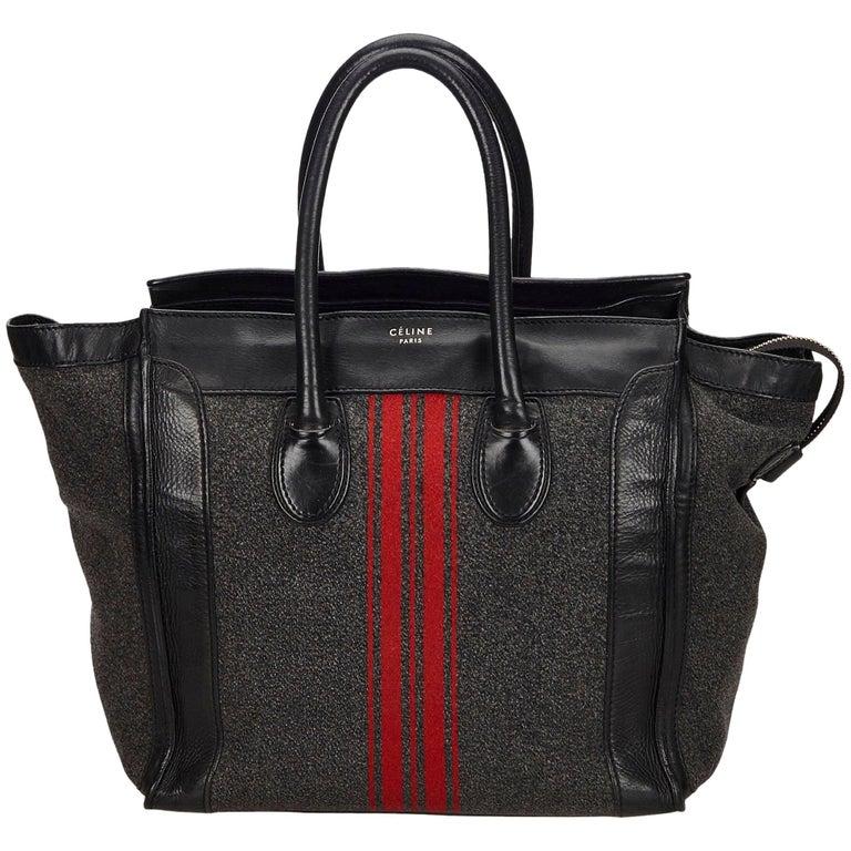 Celine Gray x MultiWool Racer Stripe Medium Luggage For Sale