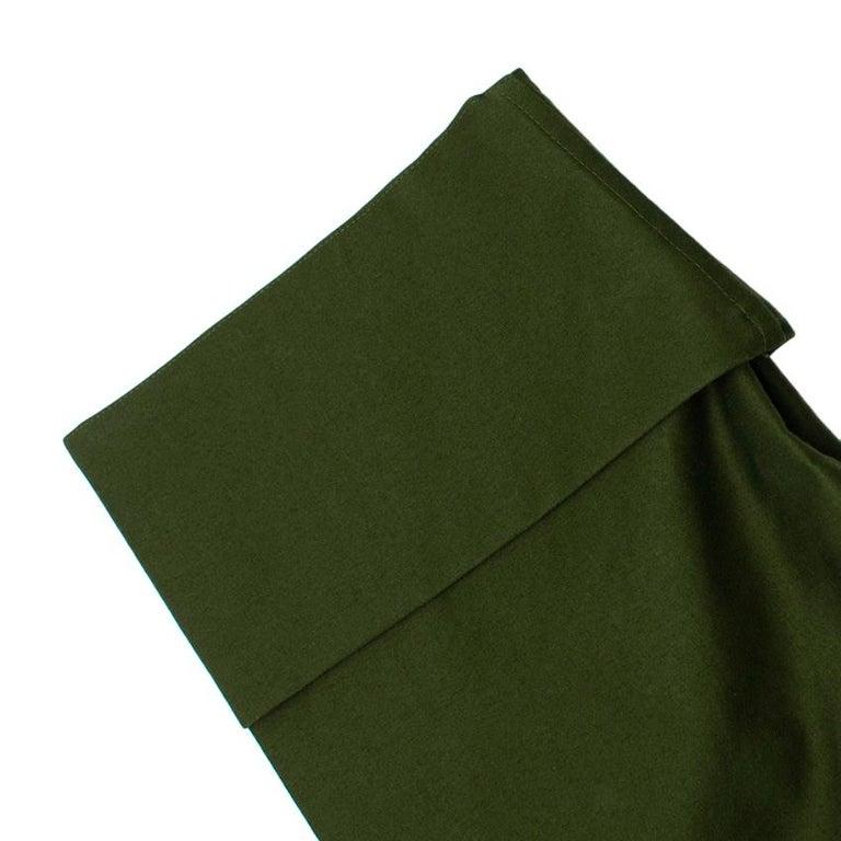 Celine Green Cotton Utility Dress - Size US 10 For Sale 5