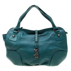 Celine Green Leather Hobo