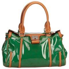 Celine Green Patent Leather Shoulder Bag