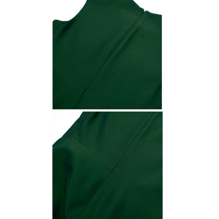 Celine Green Sleeveless Shift Dress - Estimated Size S For Sale 6