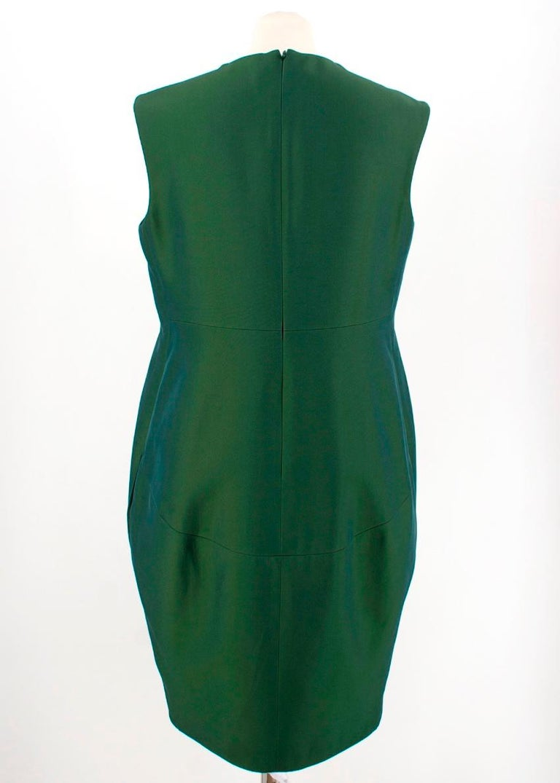 Women's Celine Green Sleeveless Shift Dress - Estimated Size S For Sale
