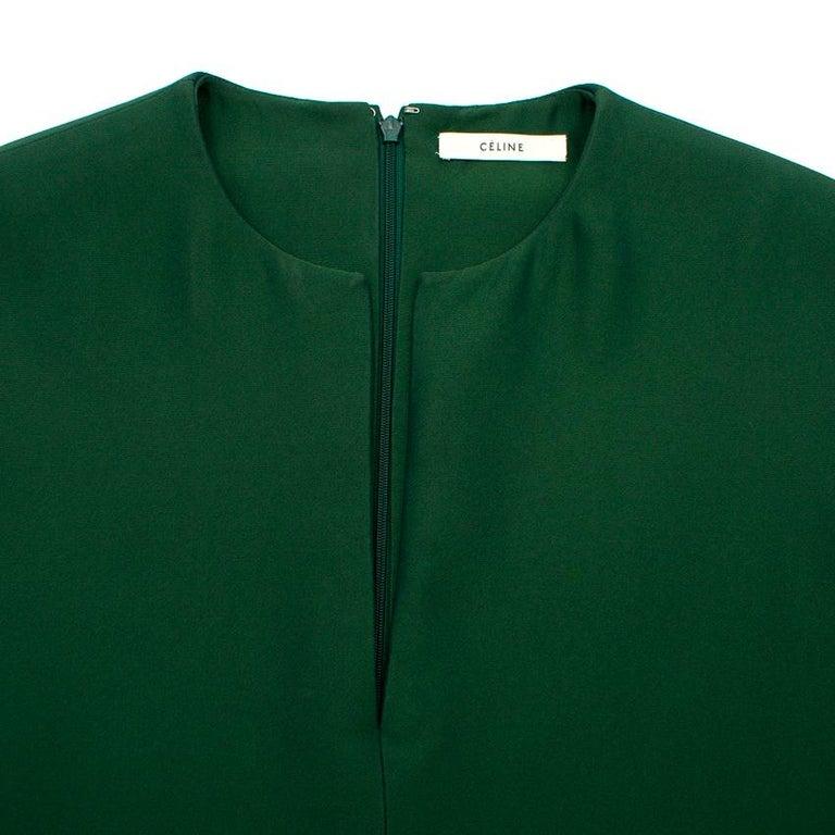 Celine Green Sleeveless Shift Dress - Estimated Size S For Sale 2