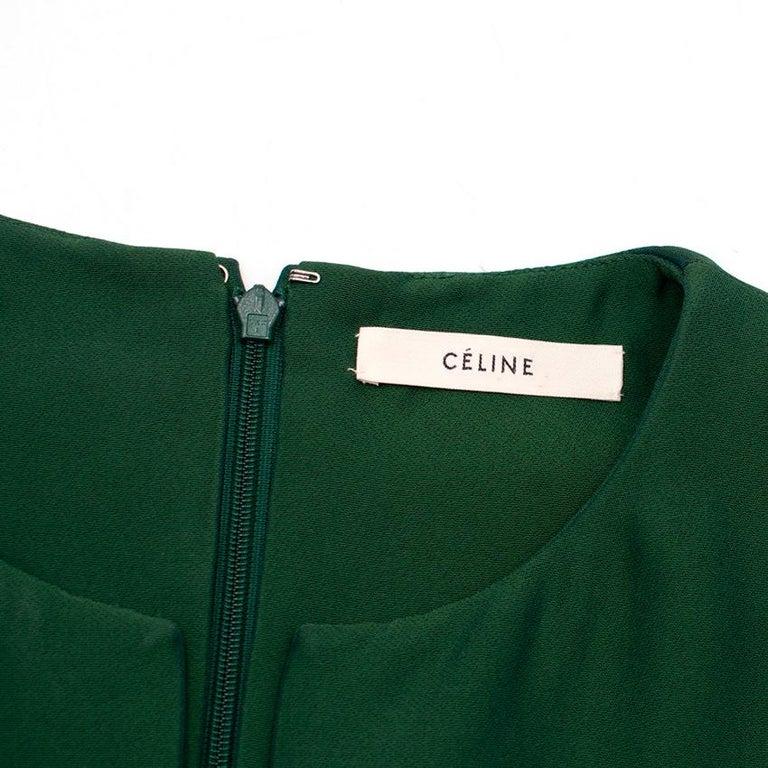Celine Green Sleeveless Shift Dress - Estimated Size S For Sale 3