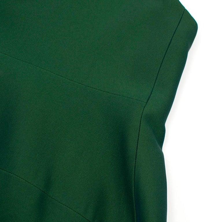 Celine Green Sleeveless Shift Dress - Estimated Size S For Sale 4