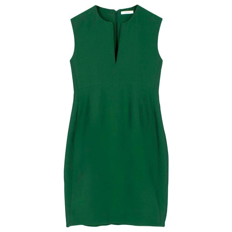 Celine Green Sleeveless Shift Dress - Estimated Size S