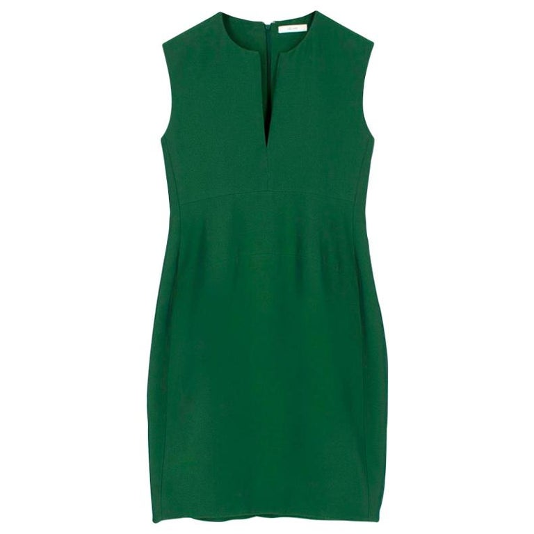 Celine Green Sleeveless Shift Dress - Estimated Size S For Sale
