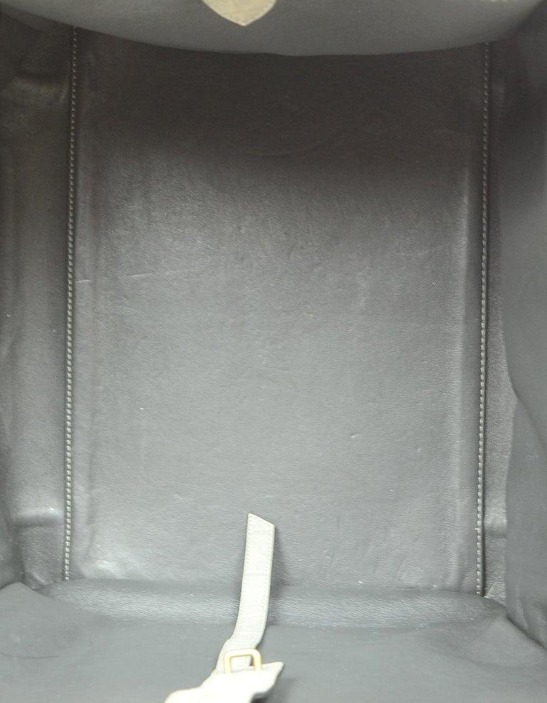 Celine Grey Crocodile Stamped Nubuck Suede Large Phantom Luggage Tote Bag For Sale 5