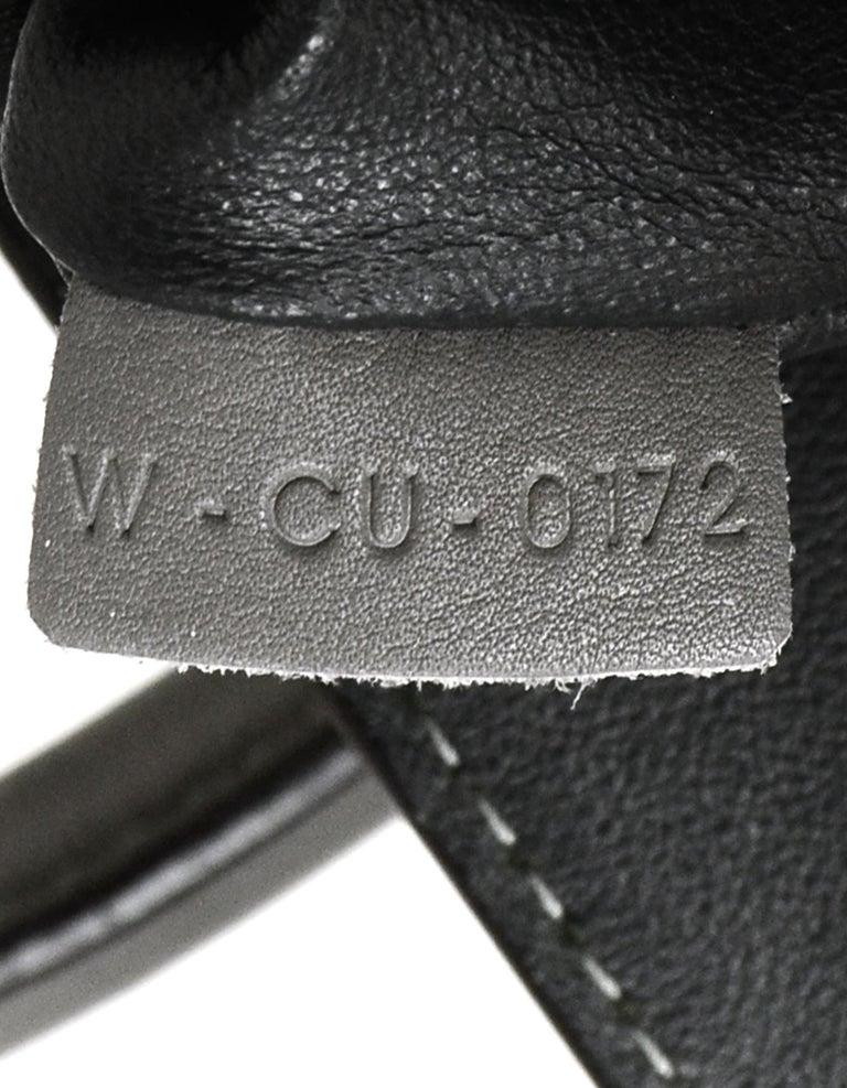 Celine Grey Crocodile Stamped Nubuck Suede Large Phantom Luggage Tote Bag For Sale 7