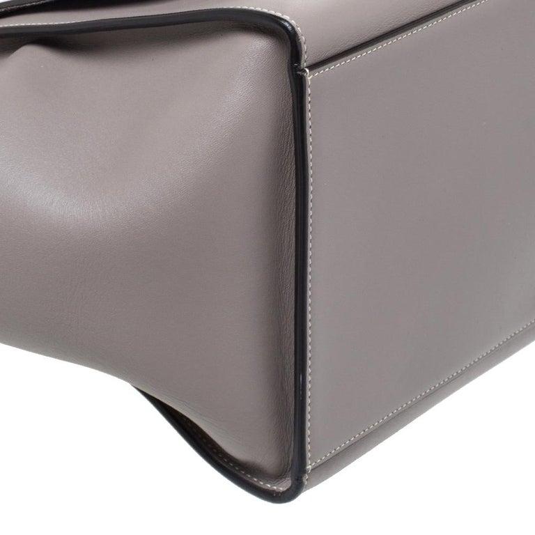 Celine Grey Leather Medium Trapeze Bag 5