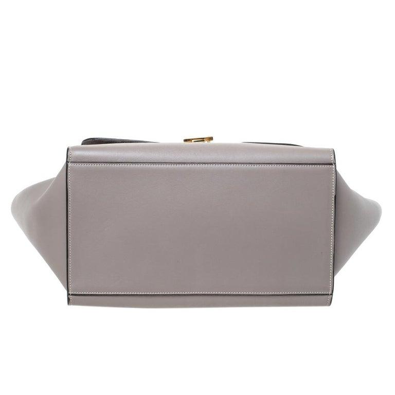 Celine Grey Leather Medium Trapeze Bag 6
