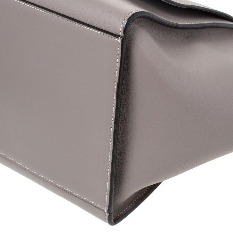 Celine Grey Leather Medium Trapeze Bag In Good Condition In Dubai, Al Qouz 2