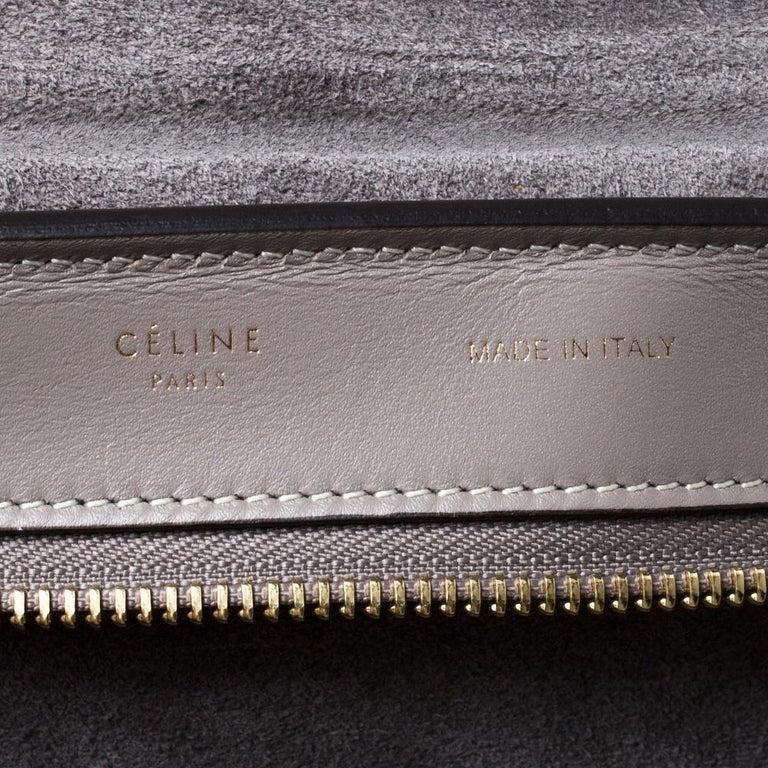 Celine Grey Leather Medium Trapeze Bag 1