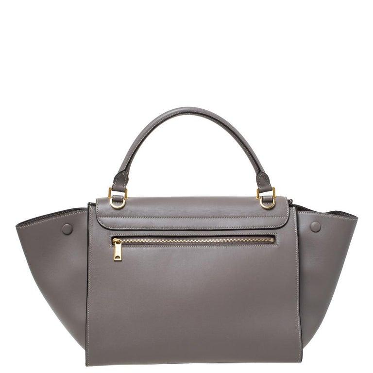 Celine Grey Leather Medium Trapeze Bag 2