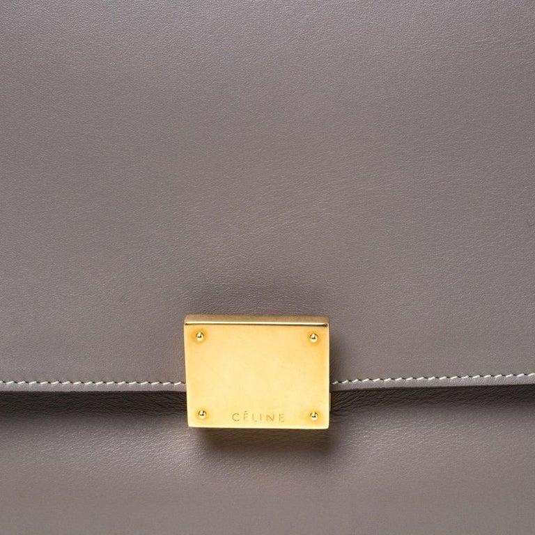 Celine Grey Leather Medium Trapeze Bag 3