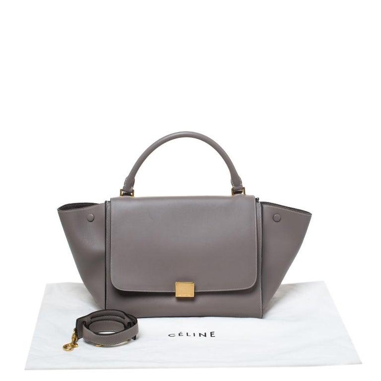 Celine Grey Leather Medium Trapeze Bag 4