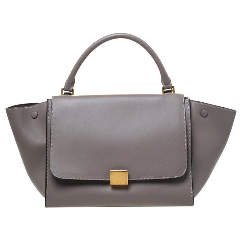 Celine Grey Leather Medium Trapeze Bag