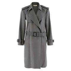 Celine Grey Wool A-Line Belted CoatSIZE 36