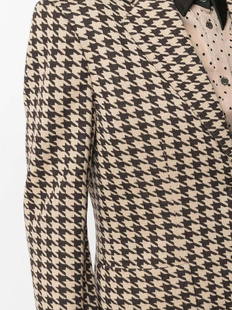 Céline Herringbone Wool Blazer In Excellent Condition For Sale In London, GB