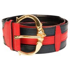 Celine High Waisted Bicolor Camarat Bucklet Belt (Size 80/32)