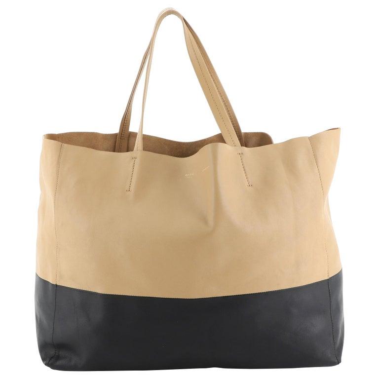 Celine Horizontal Bi-Cabas Tote Leather Large