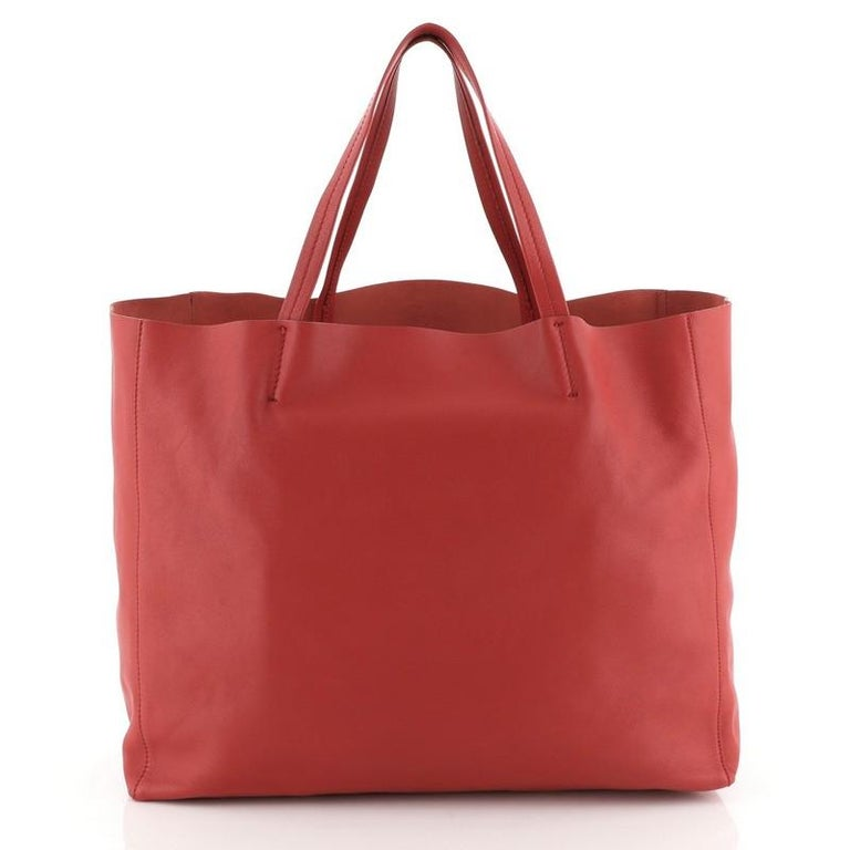 Celine Horizontal Cabas Tote Leather Large In Good Condition For Sale In New York, NY