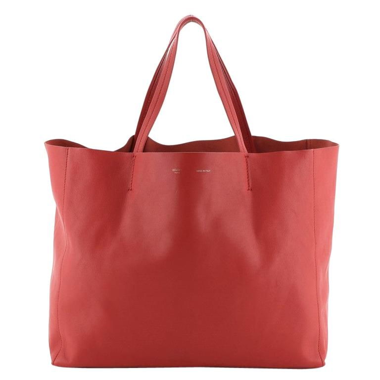 Celine Horizontal Cabas Tote Leather Large For Sale