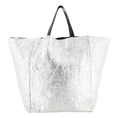 Celine Horizontal Cabas Tote Metallic Leather Large