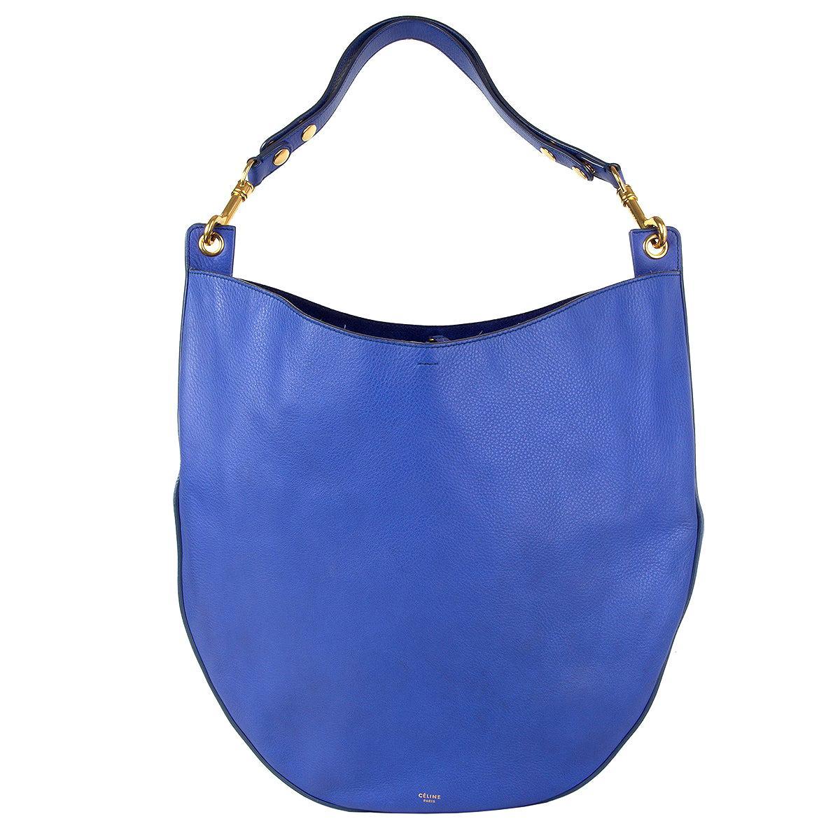 CELINE Indigo HOBO LARGE Shoulder Bag Supple Calf leather