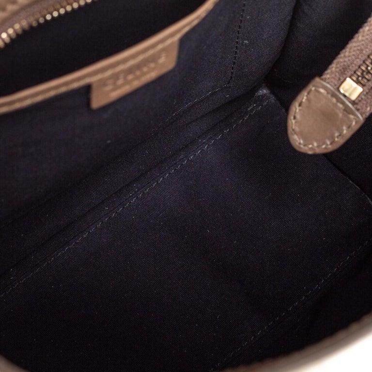Women's Celine Khaki Leather Nano Luggage Tote For Sale