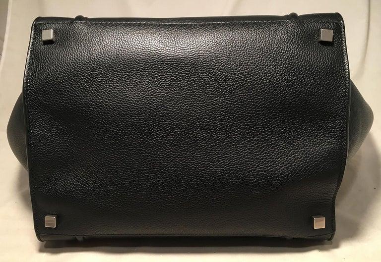 Women's Celine Medium Black Leather Phantom Luggage Tote For Sale