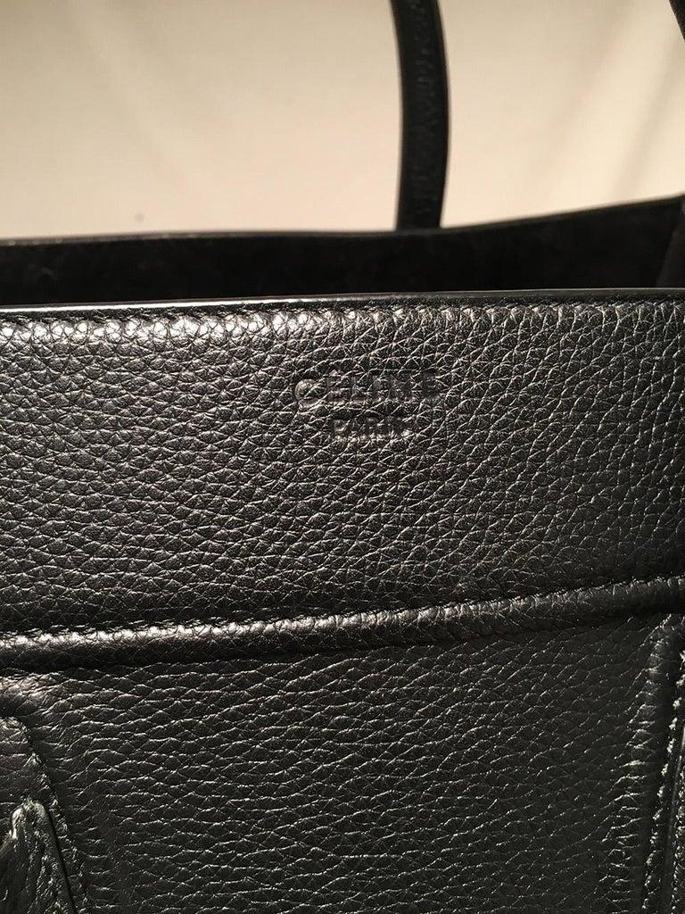 Celine Medium Black Leather Phantom Luggage Tote For Sale 1