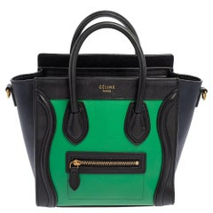 Celine Leather Celine Tri Color Leather Nano Luggage Tote