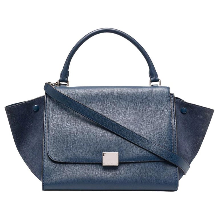 Celine Leather Trapeze Medium Size Tote Bag For Sale