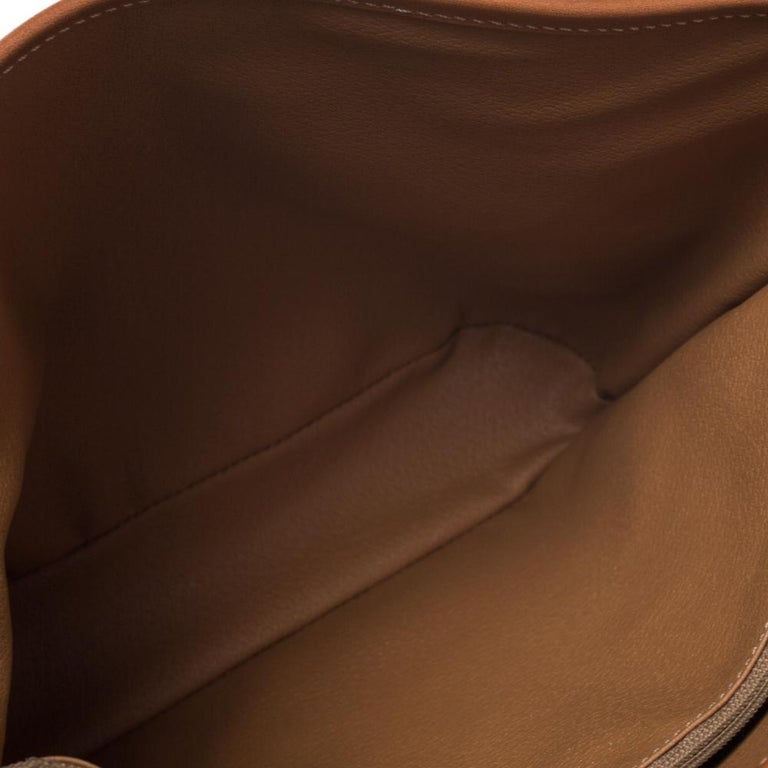 Celine Light Brown Macadam Coated Canvas and Leather Small Vintage Tote 4