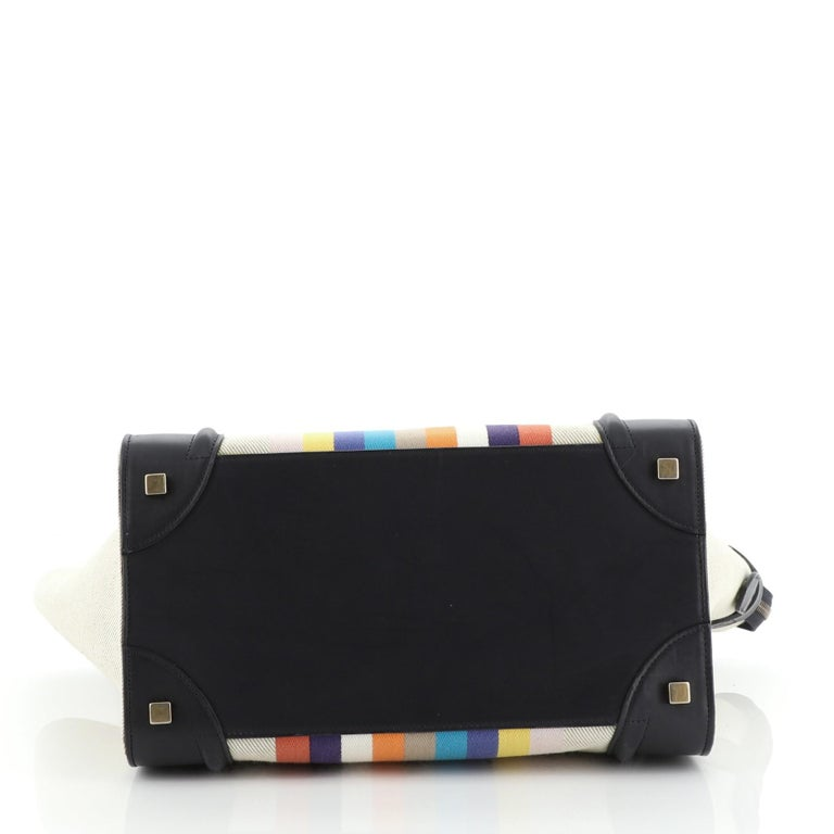 Women's or Men's Celine Luggage Bag Canvas and Leather Mini