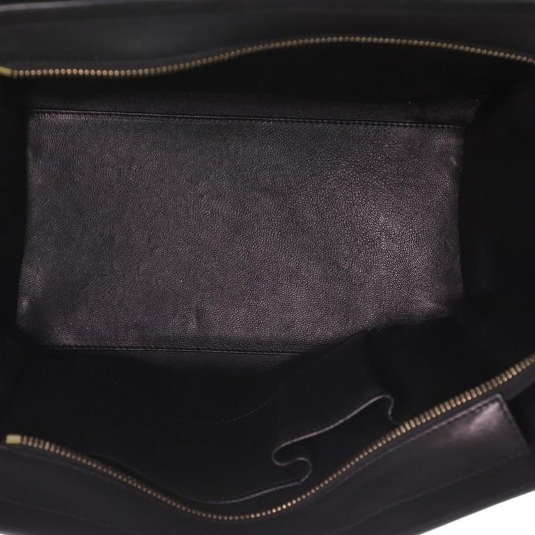 Women's or Men's Celine Luggage Bag Canvas and Leather Mini For Sale