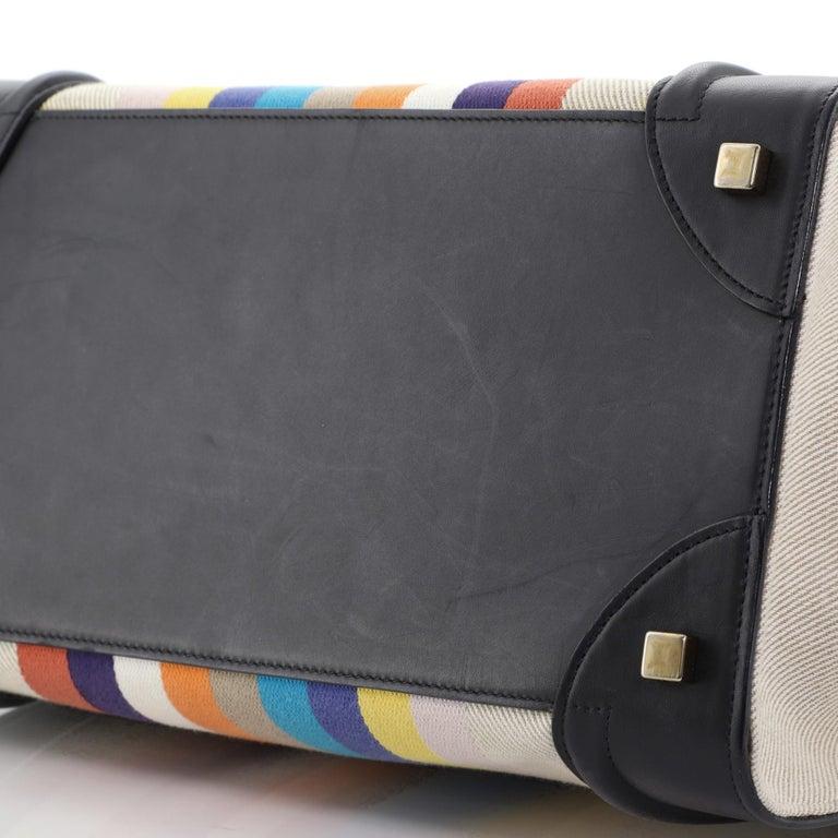 Celine Luggage Bag Canvas and Leather Mini 2
