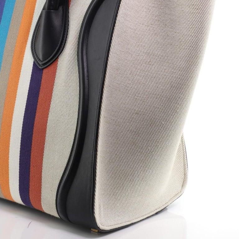 Celine Luggage Bag Canvas and Leather Mini 4